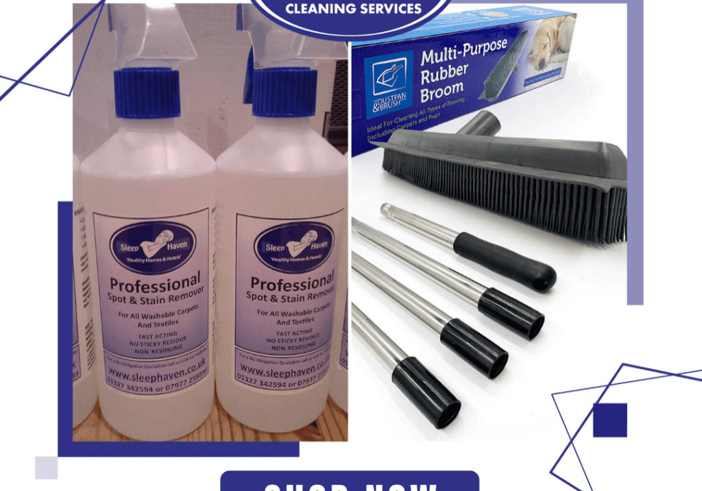 Carpet cleaning products we use and recommend